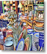 Antique Dishes Fishs Eddy New York Metal Print