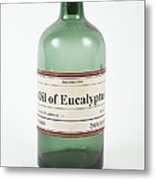Antique Eucalyptus Oil Bottle Metal Print