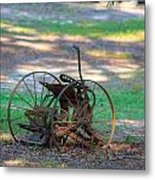 Antique Farm Equipment Metal Print