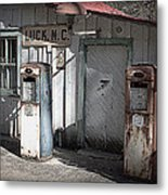 Antique Gas Pumps Metal Print