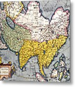 Antique Map Of Asia Metal Print