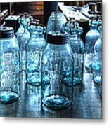 Antique Mason Jars Metal Print by Mark Sellers
