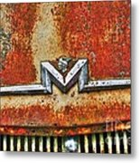 Antique Mercury Auto Logo Metal Print