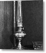 Antique Oil Lamp Metal Print
