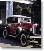 Antique Red Convertible Metal Print