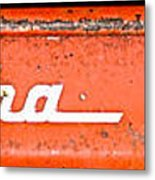 Antique Red Wagon Metal Print