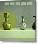 Antique Vases Still Life Altered II Metal Print