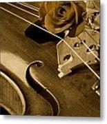 Antique Violin Viola Metal Print