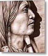 Apache Chief Metal Print