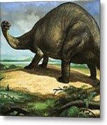 Apatosaurus Metal Print