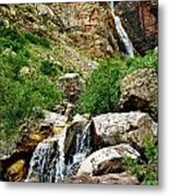 Apikuni Falls Metal Print