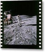 Apollo 16 Astronauts Metal Print