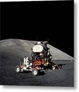 Apollo 17 Astronaut Makes A Short Metal Print