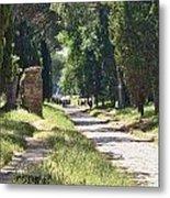 Appian Way In Rome Metal Print