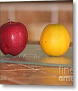 Apple And Orange Metal Print