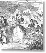 Apple Bee, 1859 Metal Print