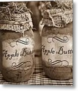 Apple Butter in Sepia Metal Print