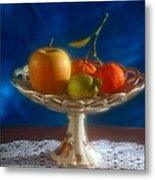 Apple Lemon And Mandarins. Valencia. Spain Metal Print