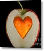 Apple With A Heart Metal Print by Mats Silvan