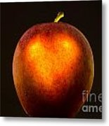 Apple With A Illuminated Heart Metal Print