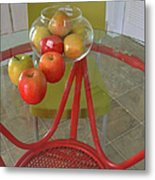 Apples In The Kitchen Metal Print