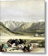 Approach To Mount Sinai Wady Barah Feby 17th 1839 Metal Print
