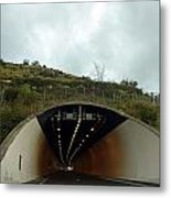 Approaching A Tunnel On A Highway In England Metal Print