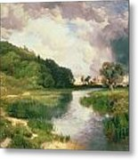 Approaching Storm Metal Print by Thomas Moran