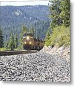 Approaching The Summit Metal Print