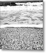 Approaching Wave - Black And White Metal Print