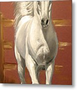 Arab Stallion Metal Print