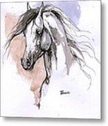 Arabian Horse Ink Drawing 1 Metal Print