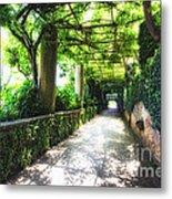 Arbor Path In Ravello Metal Print