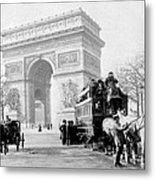 Arc De Triomphe - Paris France - C 1898 Metal Print