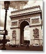 Arc De Triomphe Metal Print by Kathy Yates