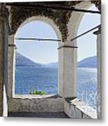 Arch And Lake Metal Print