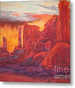 Arch Elements In Time  Metal Print by Vikki Wicks
