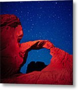 Arch In Red And Blue Metal Print