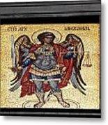 Archangel Michael Mosaic Metal Print