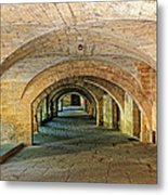 Arched Walkway In Provence Metal Print