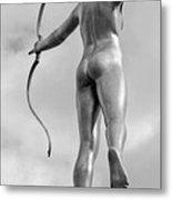 Archer In Black And White Metal Print