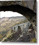 Arches And Mountains Metal Print