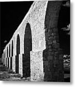 Arches Of The Kamares Aqueduct Larnaca Republic Of Cyprus Europe Metal Print