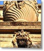 Architectural Detail . Large Urn With Lion Gargoyle  . Hearst Gym . Uc Berkeley . 7d10191 Metal Print