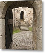 Archway - Entrance To Historic Town Metal Print