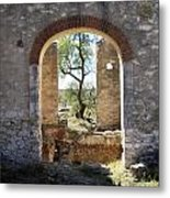 Archway At Pozos Metal Print