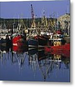 Ardglass, Co Down, Ireland Fishing Metal Print