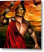 Ares Metal Print by Lourry Legarde