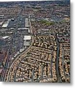 Arial View Of Las Vegas Metal Print