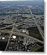 Ariel View Of Orlando Florida Metal Print